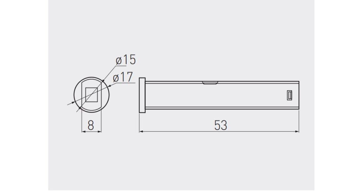 Kép 2/2 - Kapcsoló, nyitásérzékelős, fényerőszabályzóval, 12V, max 24W, mini AMP csatlakozóval, 2 fm kábellel, fehér
