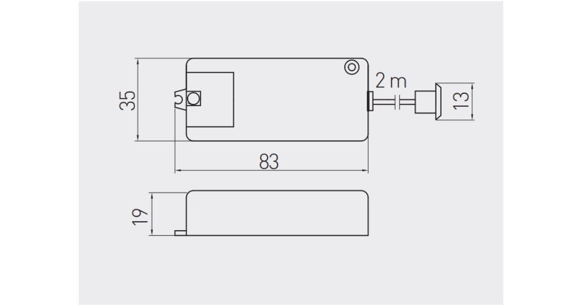 Kép 2/2 - Kapcsoló, mozgásérzékelős, kétirányú, 240V, Max 500W