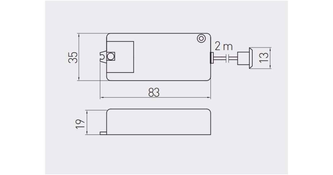Kép 2/2 - Kapcsoló, mozgásérzékelős, 240V, Max 500W