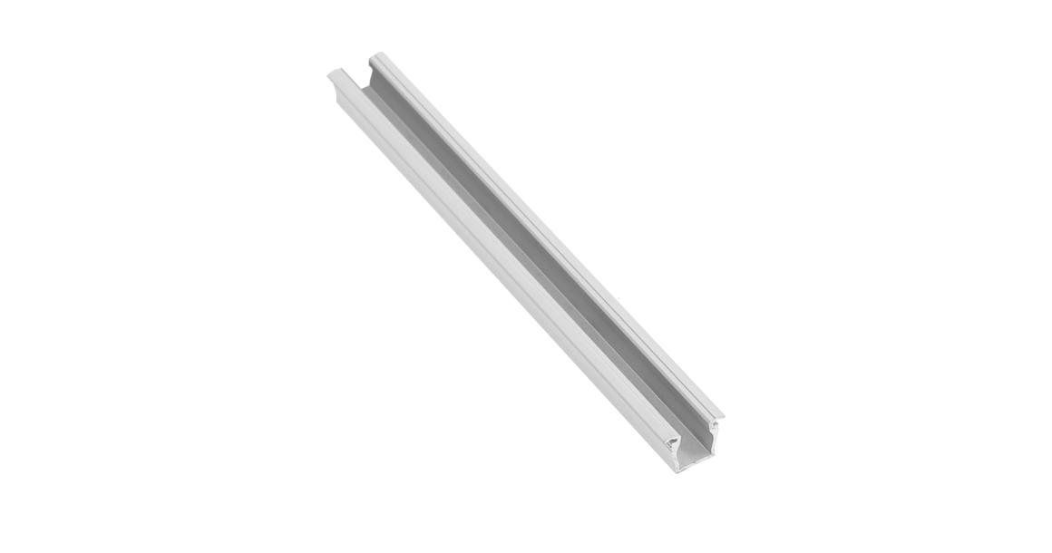 Kép 1/2 - LED Profil, GLAX mikro, bemarható, 2m, alu elox