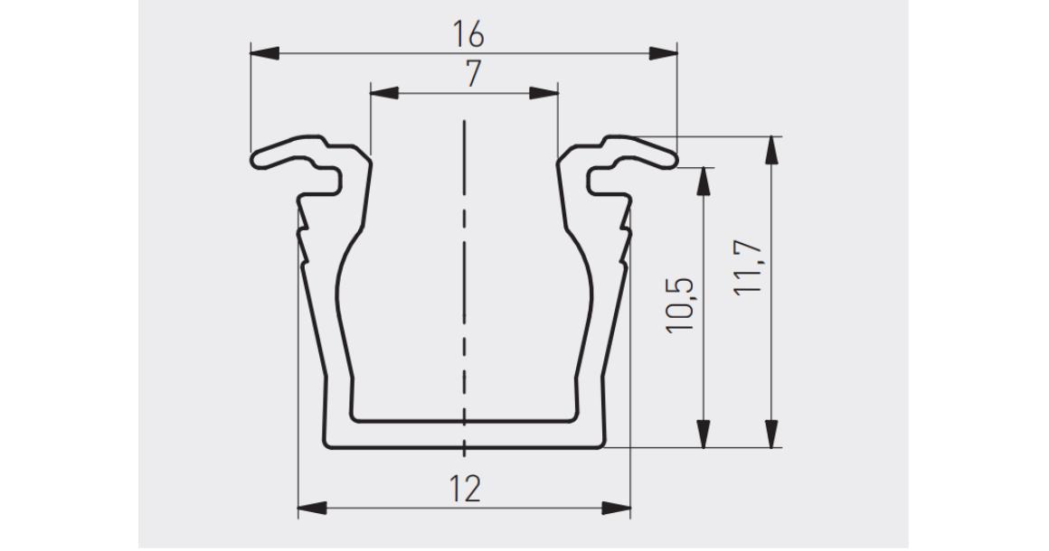 Kép 2/2 - LED Profil, GLAX mikro, bemarható, 2m, alu elox
