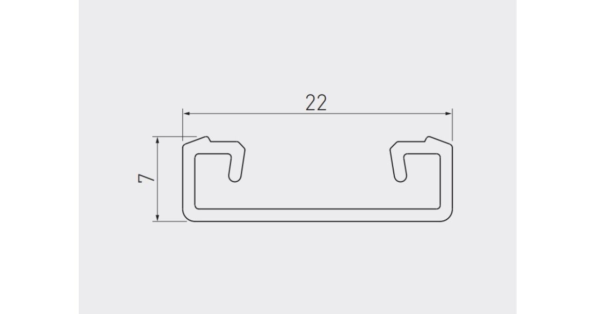 Kép 2/2 - LED Profil, GLAX, csavarozható, 2m, alu elox