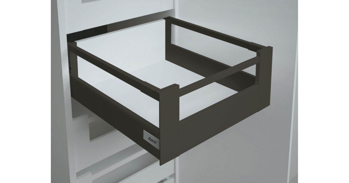 Kép 1/2 - RITMA CUBE felső négyszög korlátos 83 mm magas belső fiók, ólomszürke