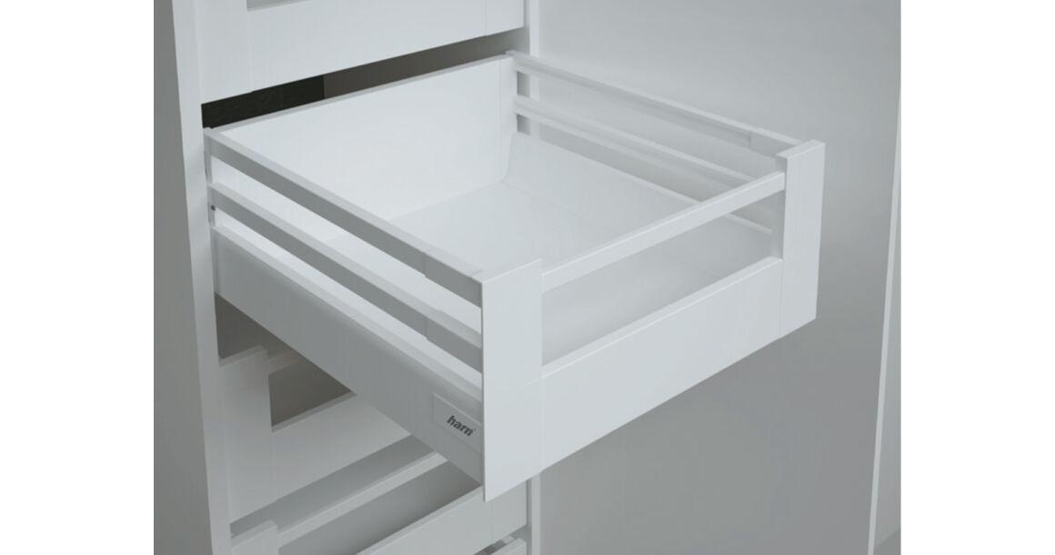 Kép 1/2 - RITMA CUBE dupla négyszög korlátos 83 mm magas belső fiók, tiszta fehér