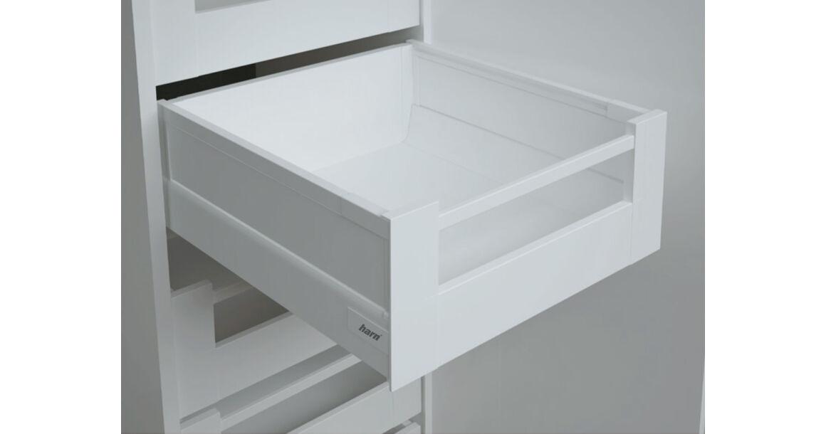 Kép 1/2 - RITMA CUBE oldalmagasított négyszög korlátos 83 mm magas belső fiók, tiszta fehér
