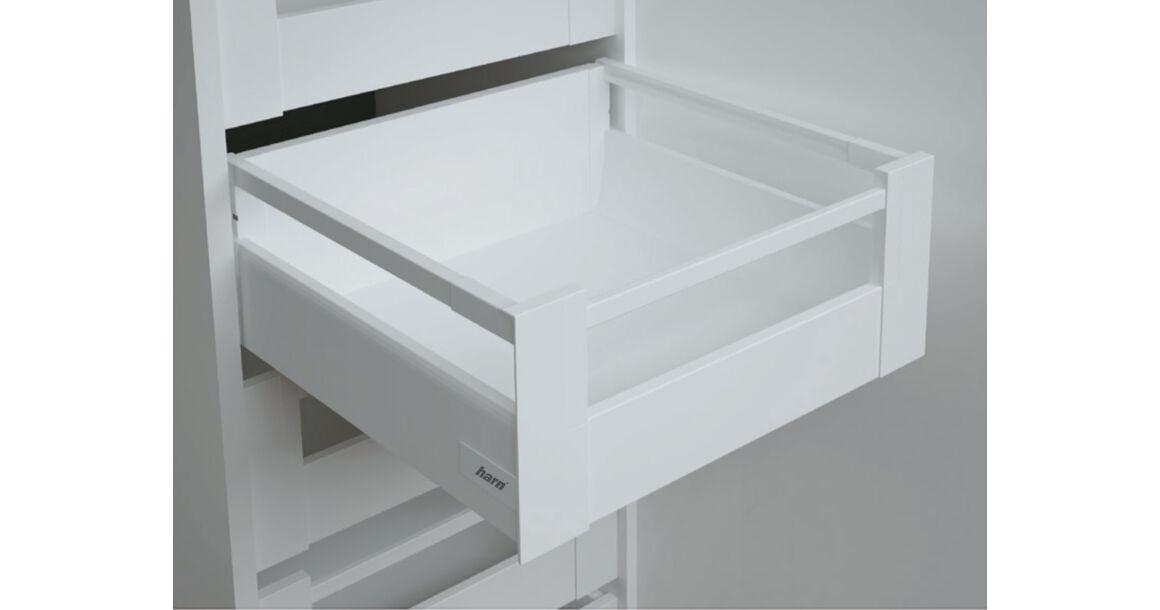 Kép 1/2 - RITMA CUBE felső négyszög korlátos 115 mm magas belső fiók, tiszta fehér