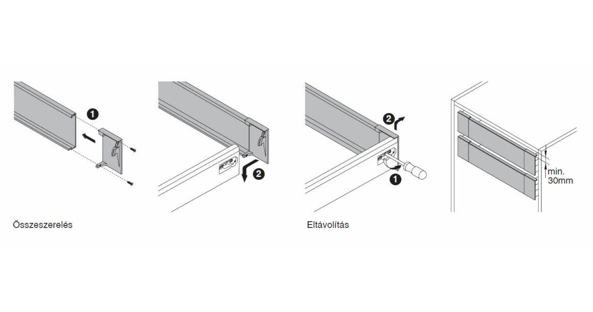 Kép 6/17 - Fiókoldal   RITMA CUBE belső fiók, T, fehér, 270mm, 35kg