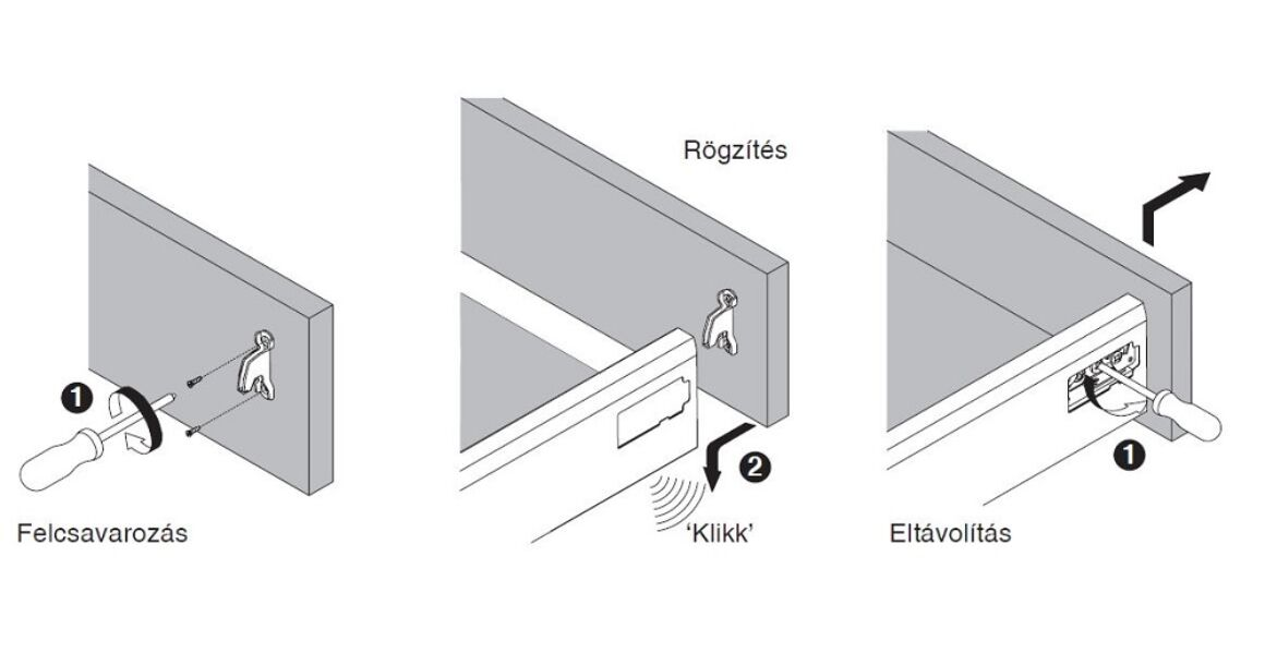 Kép 8/17 - Fiókoldal   RITMA CUBE belső fiók, T, fehér, 270mm, 35kg