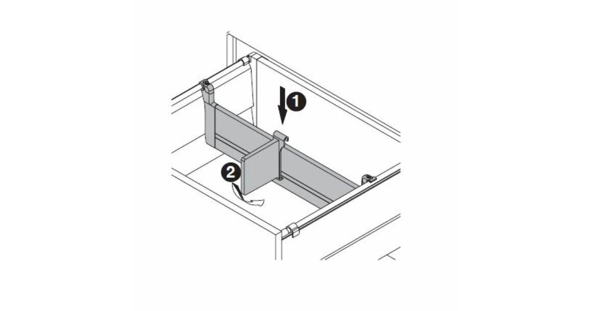 Kép 17/17 - Fiókoldal   RITMA CUBE belső fiók, T, fehér, 270mm, 35kg