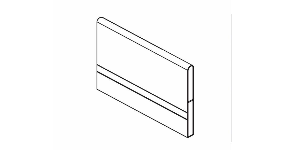 Kép 1/3 - RITMA CUBE fiókelválasztó panel négyszög korláthoz, metál szürke