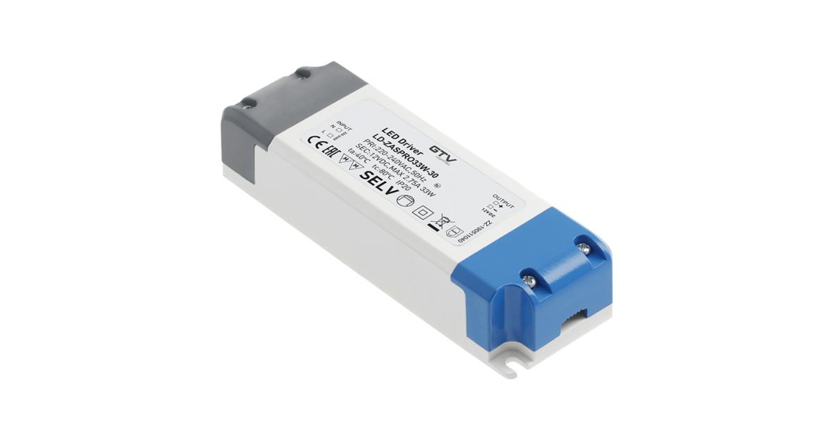 Tápegység LED 12V,  33W, IP20, 140x47x29mm