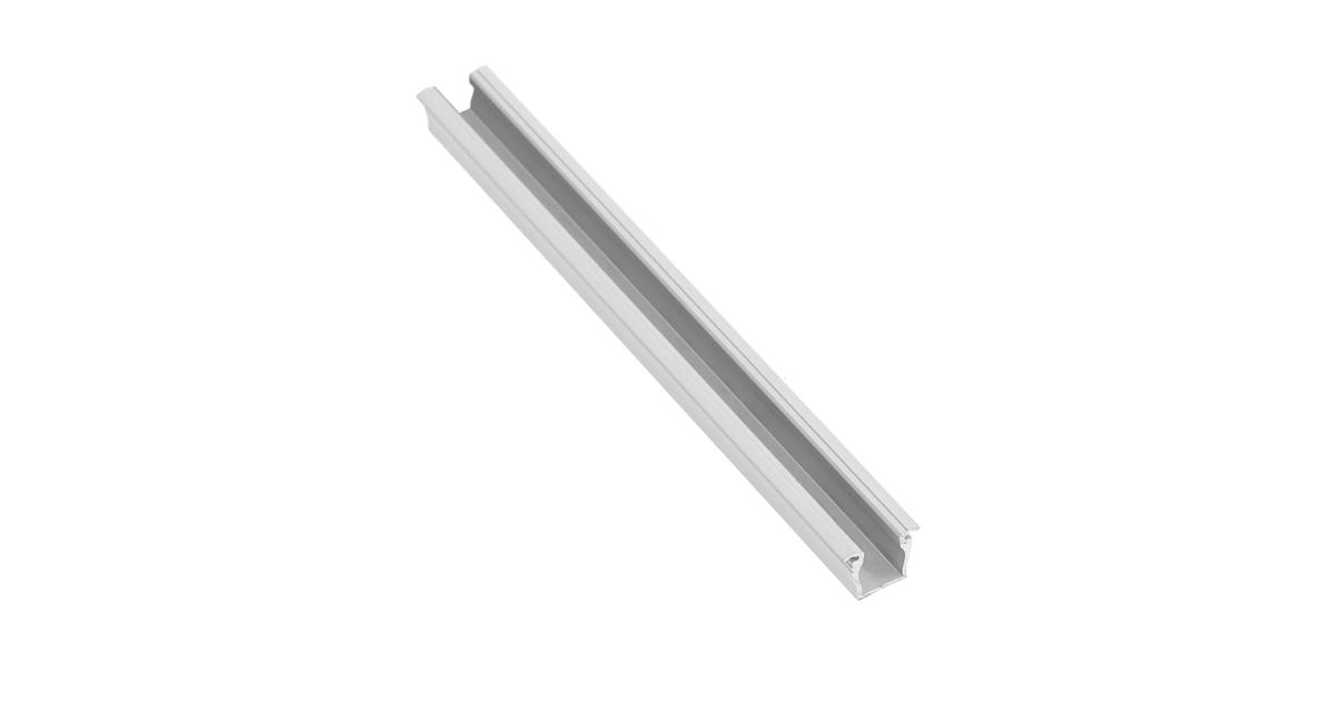 LED Profil, GLAX mikro, bemarható, 2m, alu elox