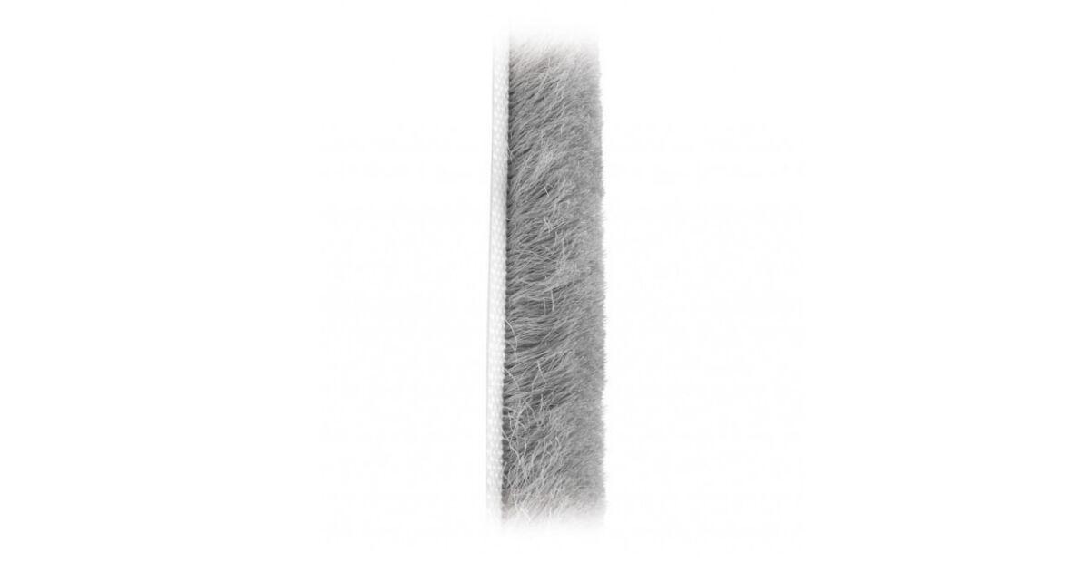 Tolóajtóhoz porzáró kefe, 14,5x4, fekete