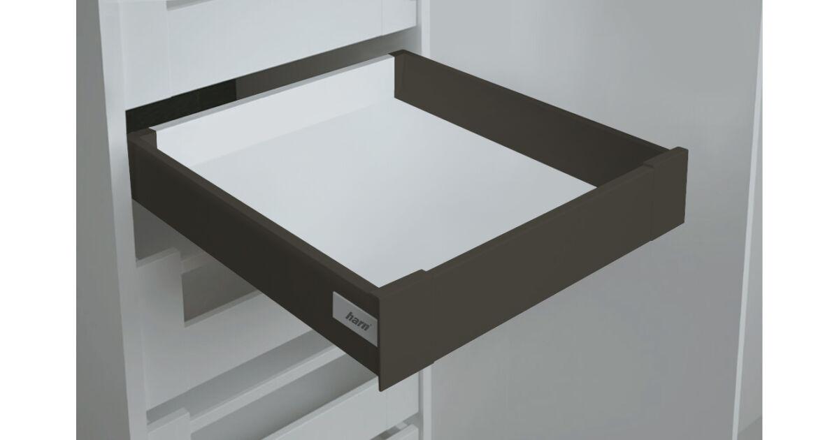 RITMA CUBE korlát nélküli 83 mm magas belső fiók, ólomszürke