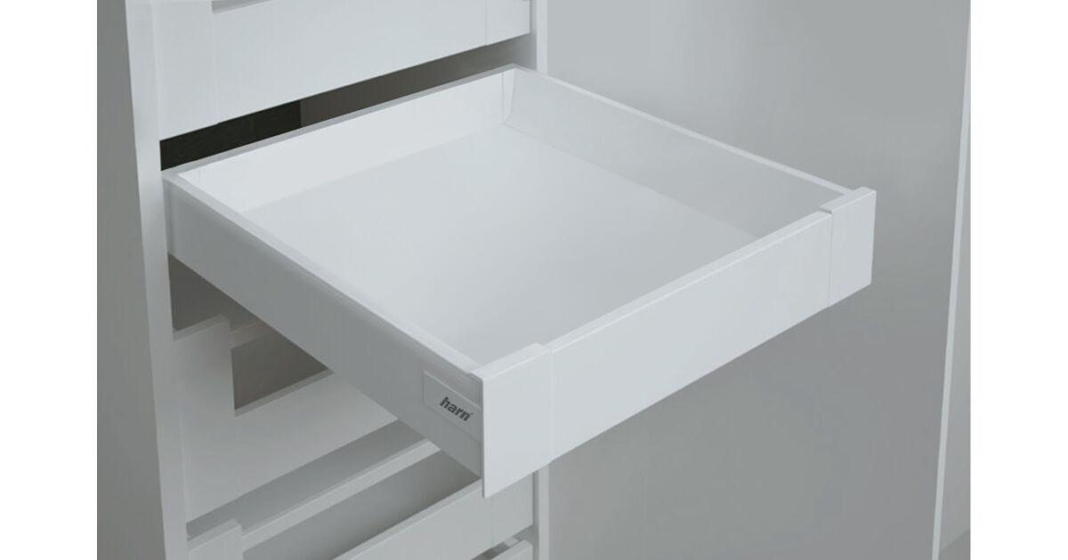 RITMA CUBE korlát nélküli 83 mm magas belső fiók, tiszta fehér