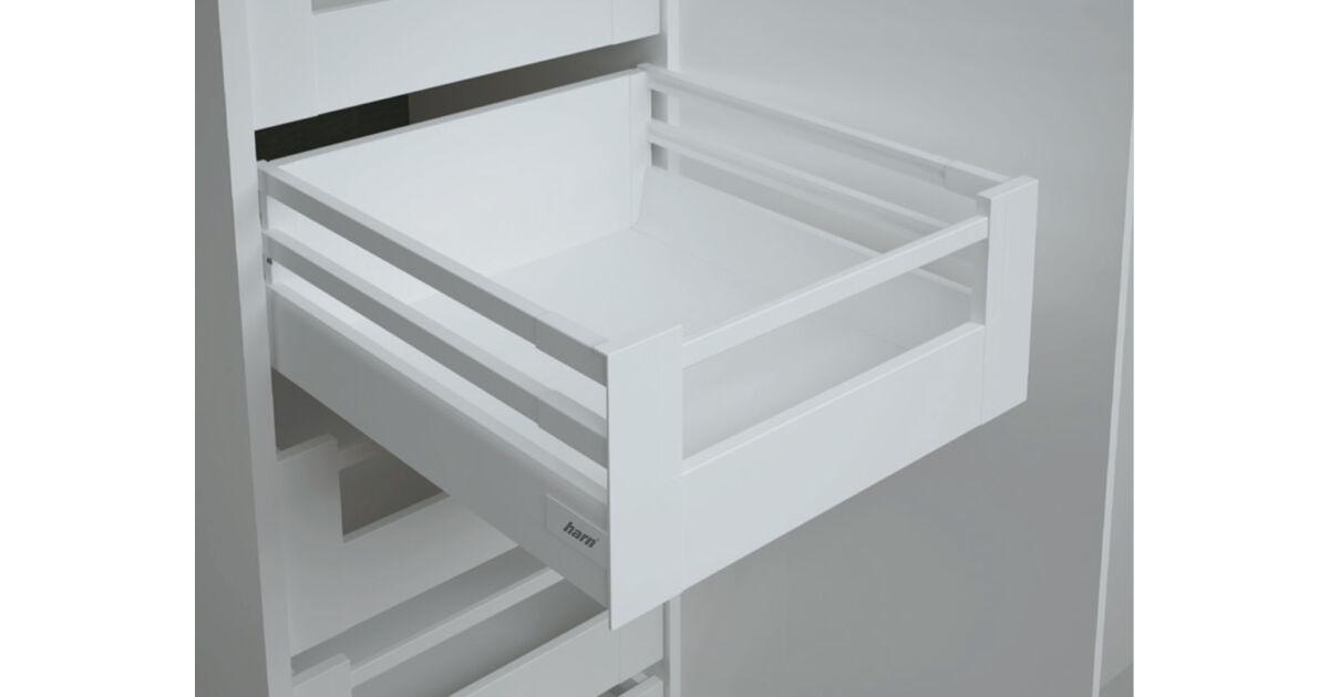 RITMA CUBE dupla négyszög korlátos 83 mm magas belső fiók, tiszta fehér