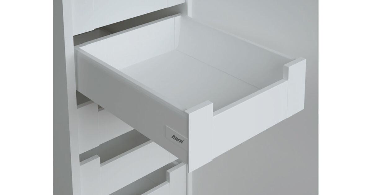 RITMA CUBE korlát nélküli 115 mm magas belső fiók, tiszta fehér