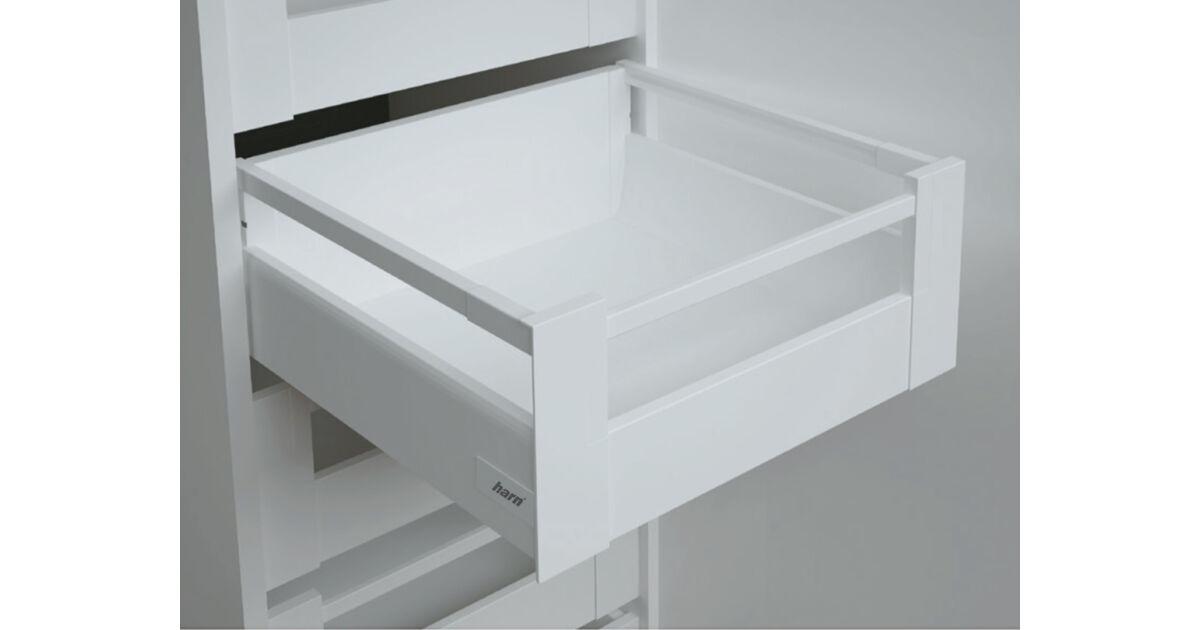 RITMA CUBE felső négyszög korlátos 115 mm magas belső fiók, tiszta fehér