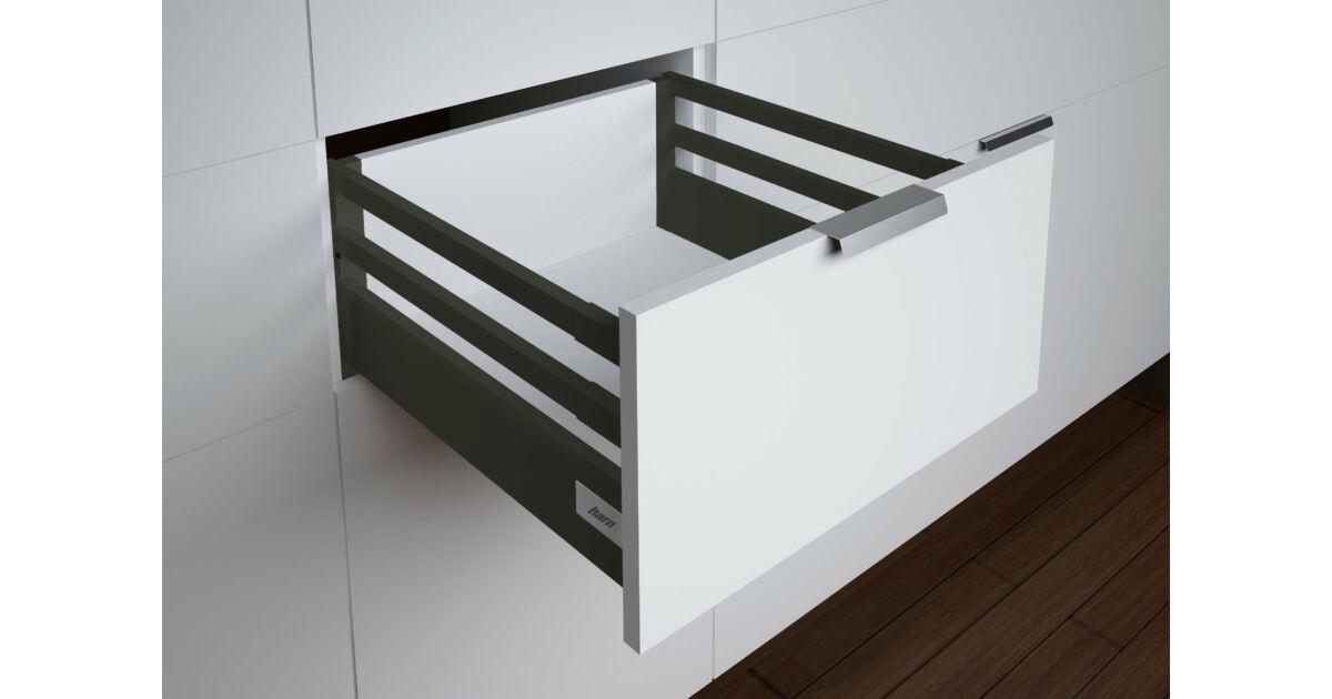 RITMA CUBE dupla négyszög korlátos 83 mm magas normál fiók, ólomszürke