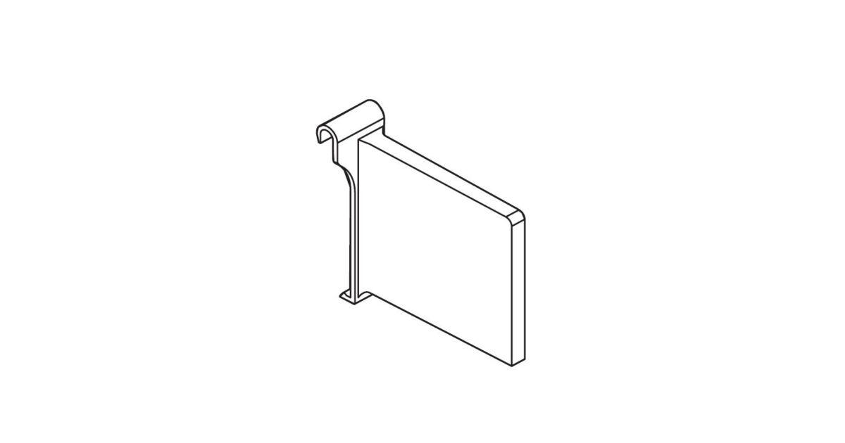 RITMA CUBE szakaszoló négyszög korláthoz, metál szürke