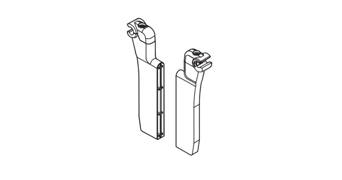 RITMA CUBE fiókelválasztó panelrögzítő kör korláthoz, metál szürke