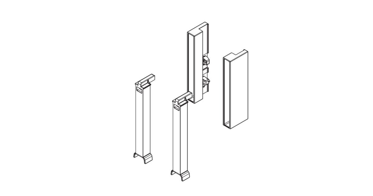 RITMA oldalpanel adapter négyszög korláthoz, metál szürke