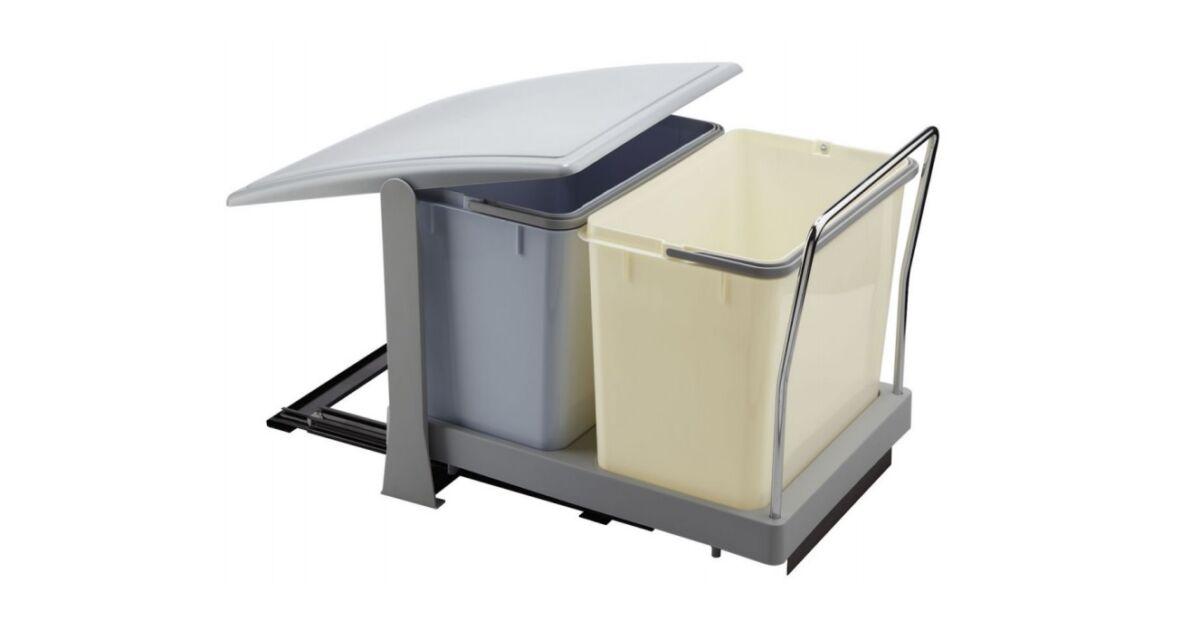 TOWER szekrénybe építhető szelektív hulladékgyűjtő autómata fedéllel 36 L
