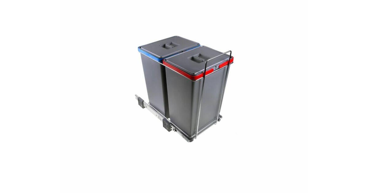 ECOFIL szekrénybe építhető szelektív hulladékgyűjtő 48 L