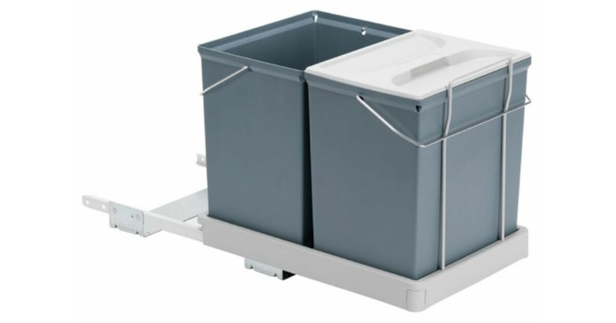 SELECT II kiforduló karos szekrénybe építhető szelektív hulladékgyűjtő 34 L