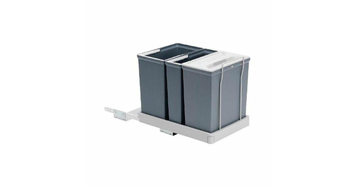 SELECT III kiforduló karos szekrénybe építhető szelektív hulladékgyűjtő 32 L